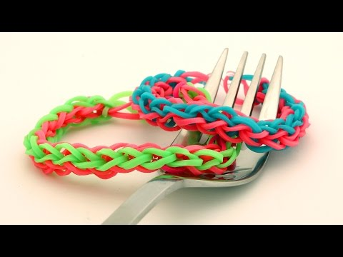 Rubber Band Bracelets With A Fork How To Make Double
