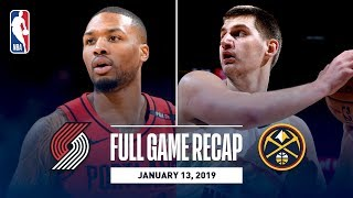 Full Game Recap: Trail Blazers vs Nuggets | Nikola Jokic Records A Season-High 40 Points