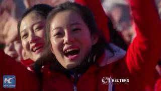 North Korean cheerleaders amaze audiences in South Korea