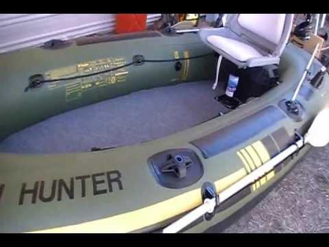 Sevylor Hf 360 Fish Hunter Wood Floor Youtube