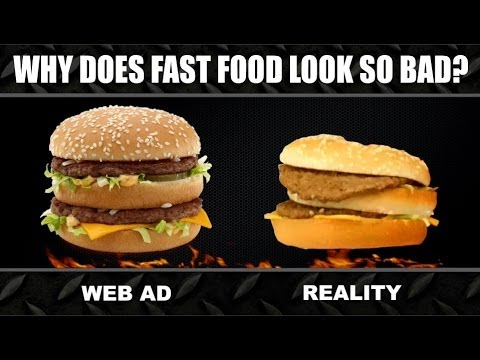 Fast Food ADS vs. REALITY Experiment