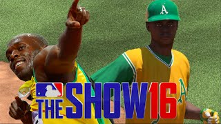 Can Usain Bolt Get A Double Off A Bunt | MLB The Show 16 Challenge