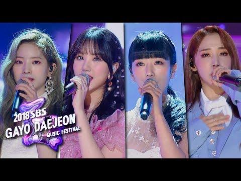 Dahyun, EunHa, BoMi, MoonByul - Flower Road [2018 SBS Gayo Daejeon Music Festival]