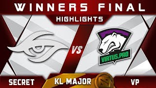 Secret vs VP Winners Final Kuala Lumpur Major KL Major Highlights Dota 2