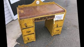 RESTORATION  - ANTIQUE ART DECO VANITY/DESK