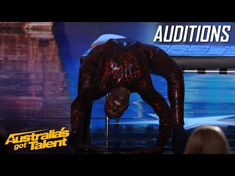 CREEPY Spider Contortionist Troy James | Auditions | Australia's Got Talent