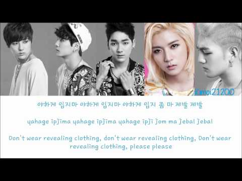 NU'EST - Don't Wear Revealing Clothes(야하게 입지마) [Hangul/Rom/English] Color & Picture Coded HD
