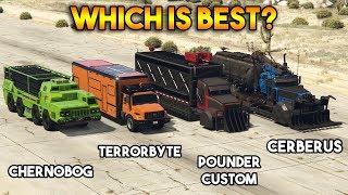 GTA 5 ONLINE : CHERNOBOG VS TERRORBYTE VS CERBERUS VS POUNDER CUSTOM (WHICH IS BEST?)