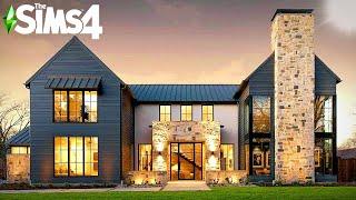 MODERN LAKE FARMHOUSE ~ Curb Appeal Recreation: Sims 4 Speed Build (no CC)