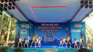 Aerobic Đất Nam - nhong nhong nhong - thi đấu aerobic mầm non 2018 hoa mi 3