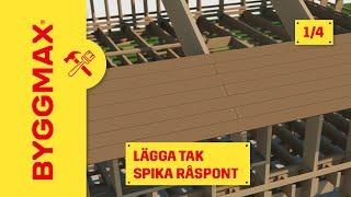 Byggmax tipsar, så lägger du tak (Del 1 - spika råspont)