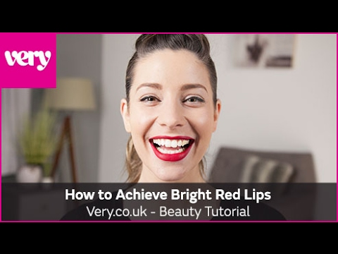 very.co.uk & Very Discount Code video: How to Achieve Bright Red Lips | Very Beauty