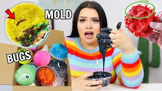 Unboxing 3 Year old Slime...*A MESS*