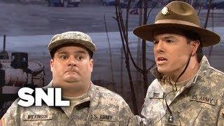 The Stuttering Drill Sergeant - SNL