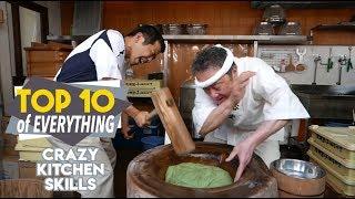 Top 10 Crazy Kitchen Skills - Amazing Kitchen Hacks