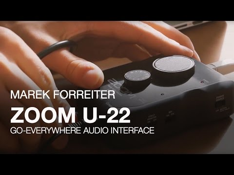 video Zoom u-22 handy audio interface