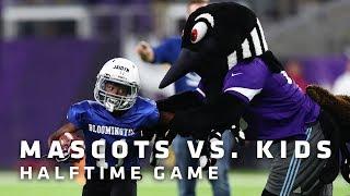Mascots vs. Kids Halftime Game | Minnesota Vikings