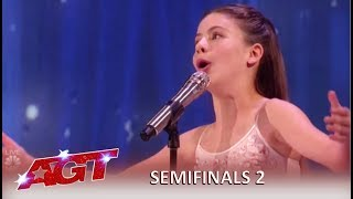 Emanne Beasha: Tiny Body With Huge STUNNING Voice! | America's Got Talent 2019
