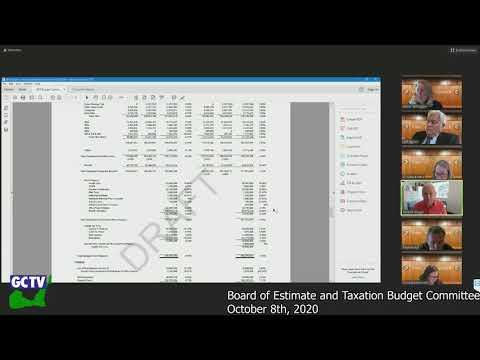 BET Budget Committee, October 8, 2020