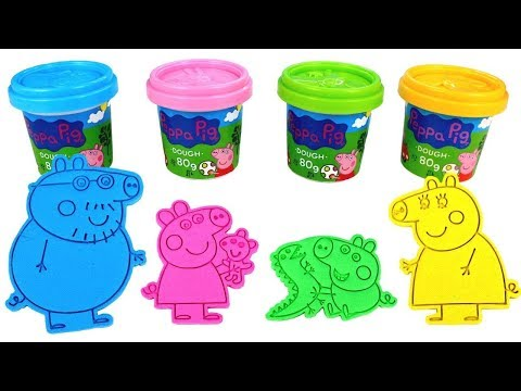 Peppa Pig Toys Videos Play Doh and Kinetic Sand Learn Colors and Many more