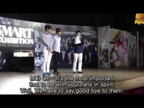 [ENG] Taemin with Kai @ SM Art Exhibition in COEX 120811