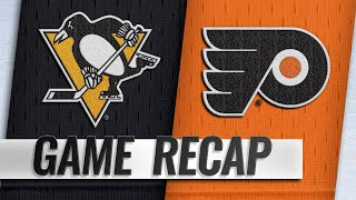 Murray, Crosby lead Penguins past Flyers