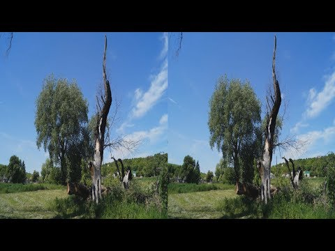Journey outside the city 3D ( part 2 ) ! The Beauty Of The Countryside ! 3D VIDEO