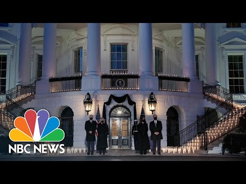 White House Holds Moment Of Silence To Honor Covid Victims | NBC News