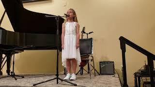 """Josie singing """"How Far I'll Go"""" Moana"""