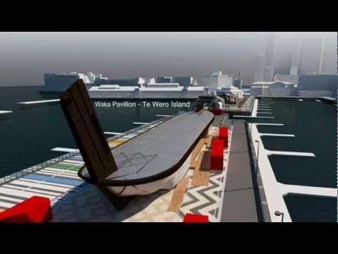 Auckland Viaduct Waka Maori Concept