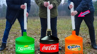 Experiment: Coca Cola VS Mentos & Fanta VS Mentos & Sprite VS Mentos