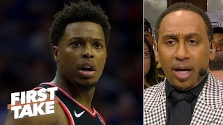 Warriors investor shouldn't be banned for life after pushing Kyle Lowry - Stephen A. | First Take