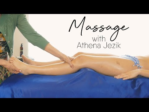 HD Massage Tutorial for Legs & Feet | Relaxation Techniques with Athena Jezik, How to, Bodywork
