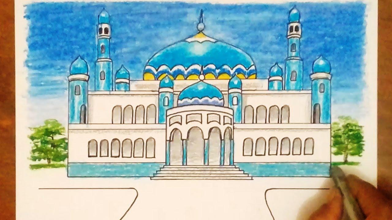 Masjid Images Drawing Nusagates