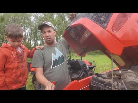 Weekend tractor work with the kids Picture