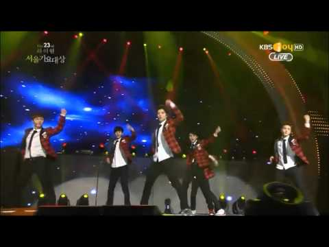 140123 EXO - Let out the beast + Wolf + Growl + Daesang Award @ Seoul Music Awards 2014