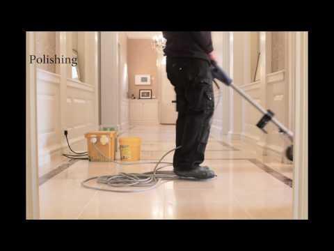 Marble Stone Floor Restoration Cambridge Timelapse video Art of Clean