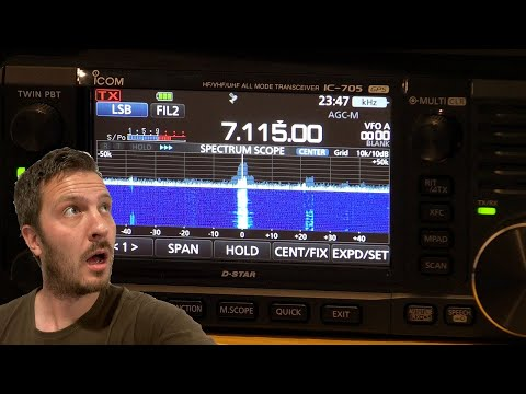 Making Contacts and Testing the Icom IC-705 on HF (7 MHz)