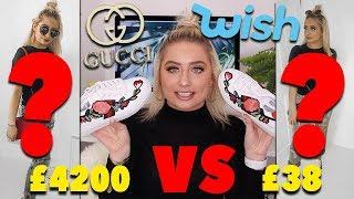 DESIGNER VS WISH FAKES/DUPES!!! £38 vs £4200?!?! 😍😱* SHOCKED * 😭