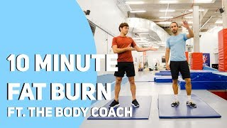 10 Minute FAT BURN Workout Ft. The Body Coach I Tom Daley
