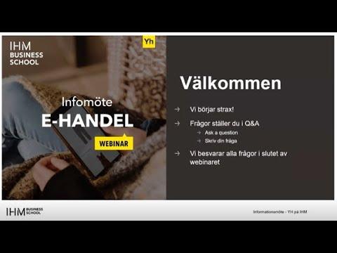 YH Infomöte - E-handel