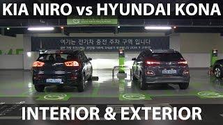 Kona vs Niro comparison of exterior & interior