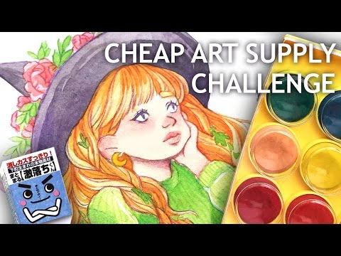 CHEAP ART SUPPLY CHALLENGE || Watercolor edition