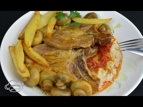 Chuletas de cerdo al estilo napolitano, receta muy fácil