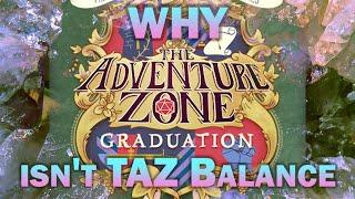 Why TAZ Graduation isn't TAZ Balance - Overthoughts