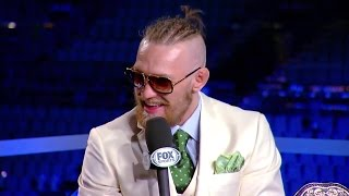 McGregor says the belt is already his
