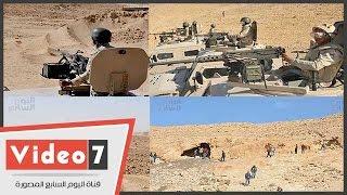 أول فيديو من داخل جبل الحلال..اليوم السابع يرصد بطولات الجيش المصرى ...