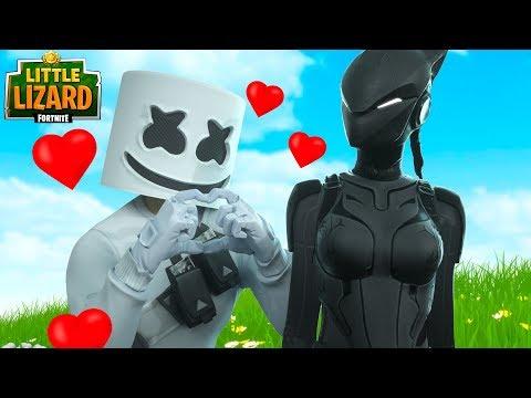 MARSHMELLO FALLS IN LOVE WITH LYNX!!! - Fortnite Short Films