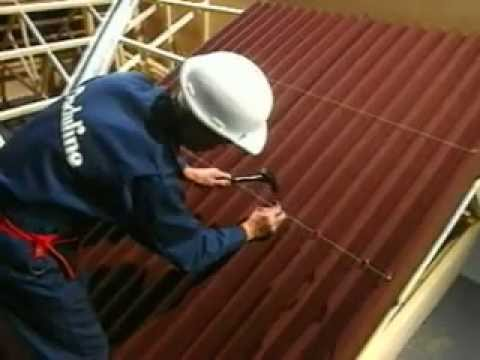 How To Fix Onduline Roofing Sheets Youtube