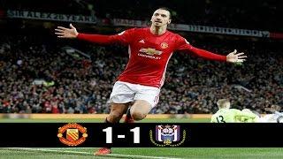 Manchester United vs Anderlecht [ 1-1 ] European League Quarter Final Highlights